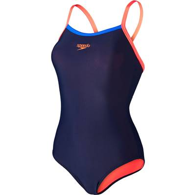 Maillot Speedo Femme Navy/Red Taille 40